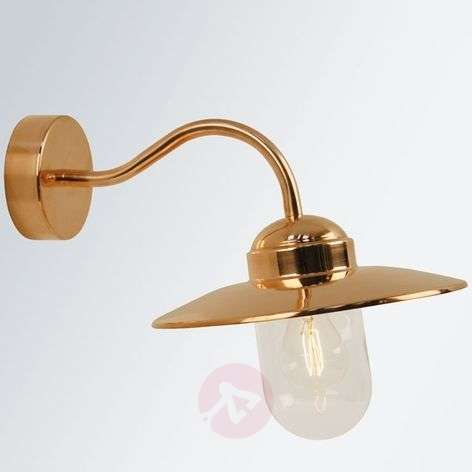 Luxembourg outdoor wall lamp made of copper