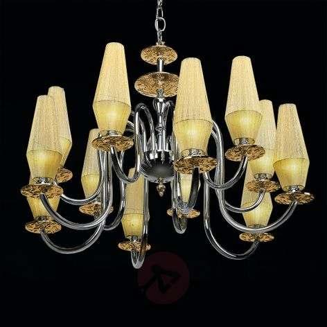 Luxury chandelier Karma in amber, 12-bulb