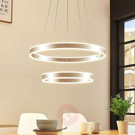 Lyani dimmable LED pendant lamp made of two rings