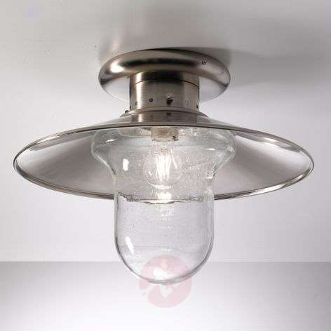 Maestrale ceiling light, clear glass lampshades