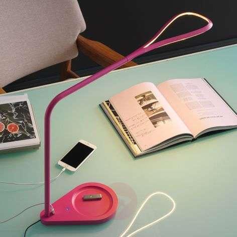 Magenta LED table lamp Kinx