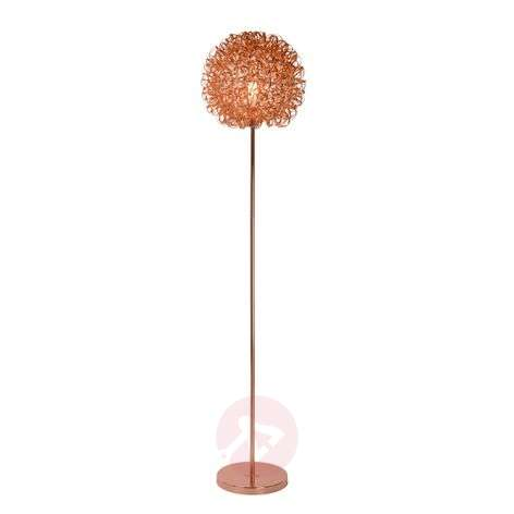 Magically beautiful Noon floor lamp, copper