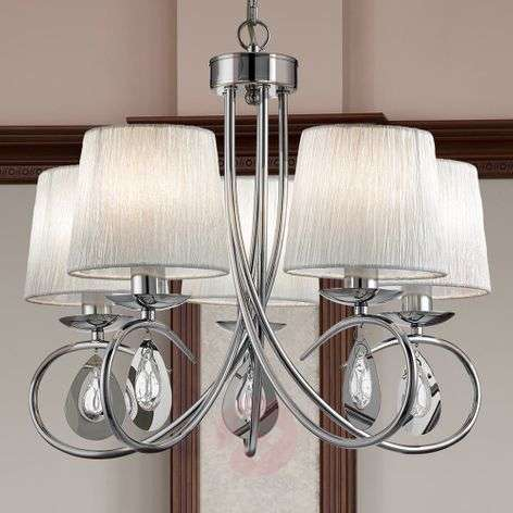 Magnificent Angelique hanging light with 5 bulbs