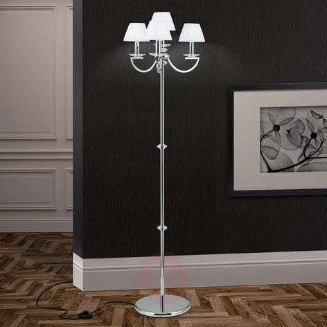Magnificent floor lamp Avala, organza lampshades