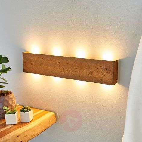 Maja dimmable LED wall lamp with a rust finish