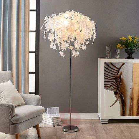 Maple - floor lamp with leaf decoration