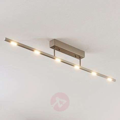 Margeau LED ceiling light, nickel, dimmable