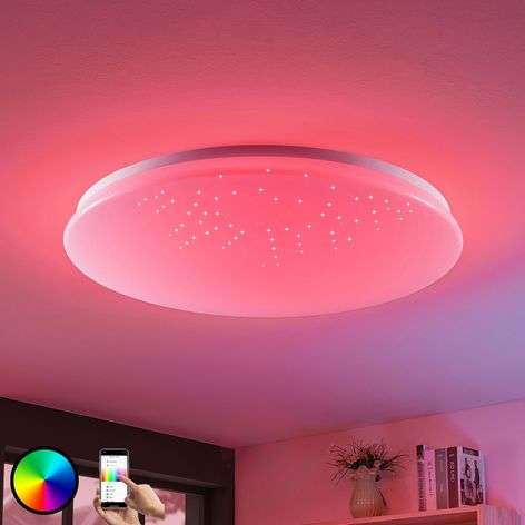Marlie LED ceiling lamp, WiZ technology, round