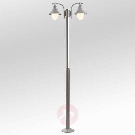 Marlitt two-bulb stainless steel post light