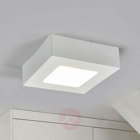 Marlo LED ceiling lamp white 4000K angular 12.8 cm