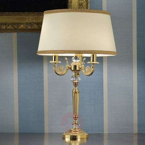 Marvine noble table lamp, gold-plate
