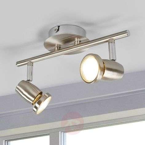 Matt nickel LED ceiling light Celestine