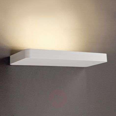 Matt white painted LED wall light Slim