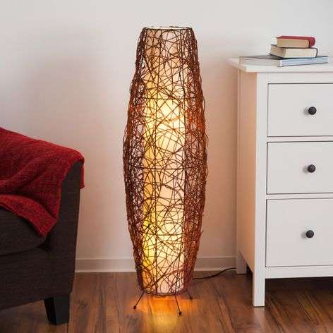Medine Rattan Floor Light