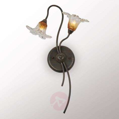 Megan LED wall light in Florentine style two-bulb