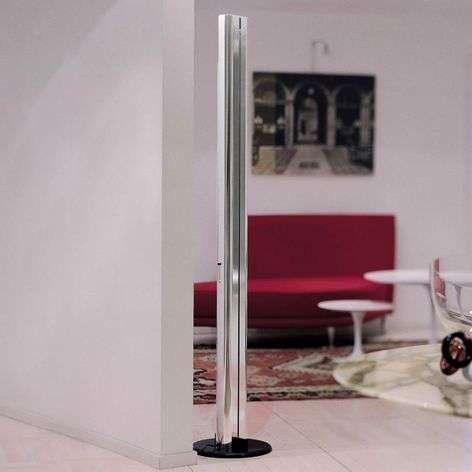 Megaron designer LED floor lamp, glossy alu