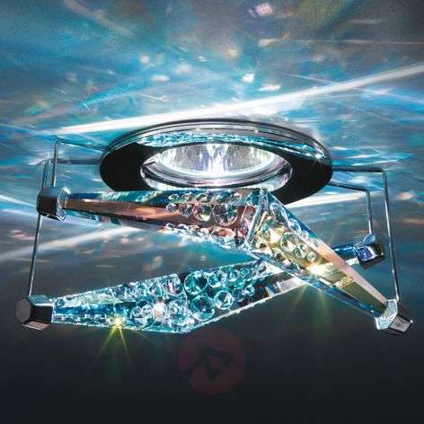 Melody recessed ceiling light with crystal