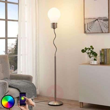 Mena LED RGB floor lamp, controlled via app