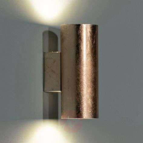 Meral golden LED wall lamp, cylindrical