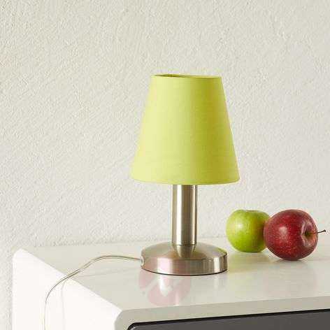Merete table lamp with touch switch, green