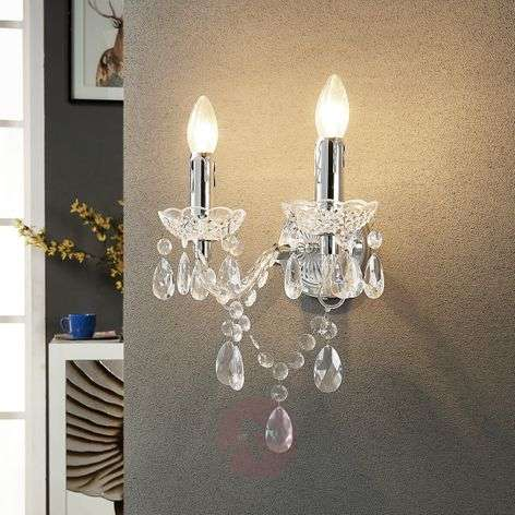 Merida - elegant wall lamp, 2-bulb