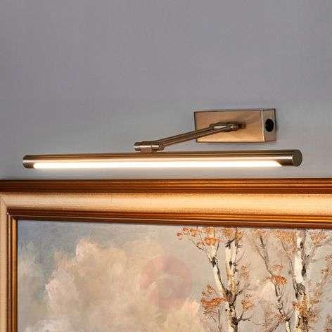 Merte LED picture light with a matt nickel finish