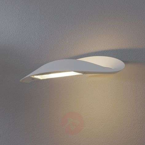 Mesmeri designer wall light, white