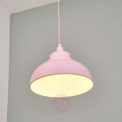 Metal Isla pendant light in rose