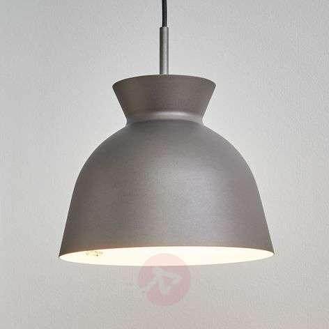 Metallic grey Gilda hanging light
