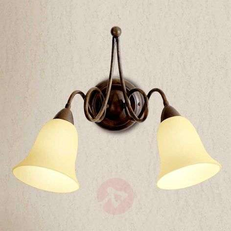 Michele - 2-bulb country house wall light