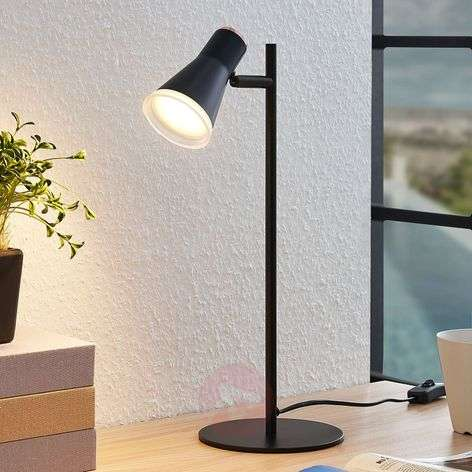 Michiko LED table lamp with switch, black