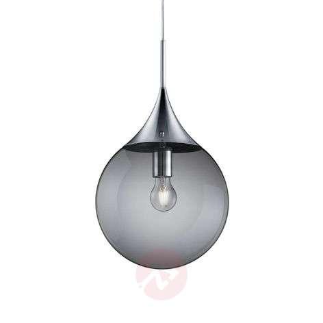 Midas hanging light, glass, Ø 30cm, smoke-coloured