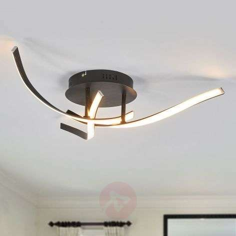 Milane brown LED ceiling light, 3 dimming levels