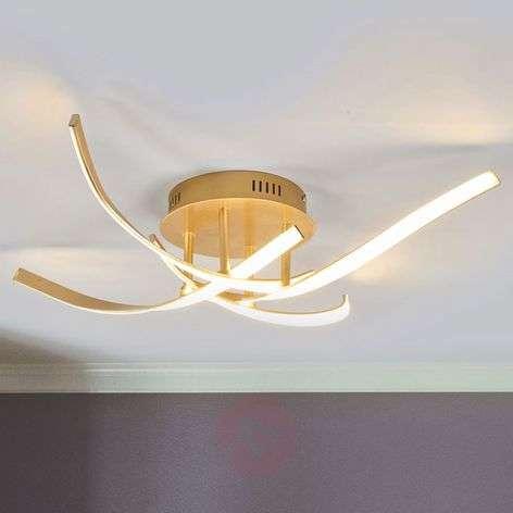 Milane dimmable LED ceiling light, golden