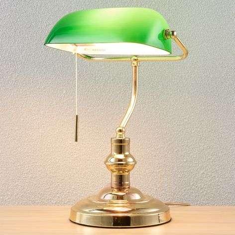 Milenka bankers lamp, polished brass-9620987-33
