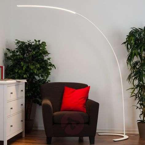 Minimalistic LED floor lamp Danua in white
