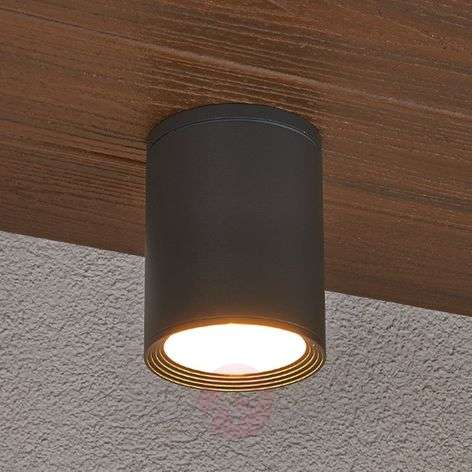 Minna dark grey ceiling light for outdoors