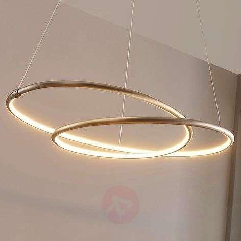 Mirasu delicate LED pendant lamp, nickel