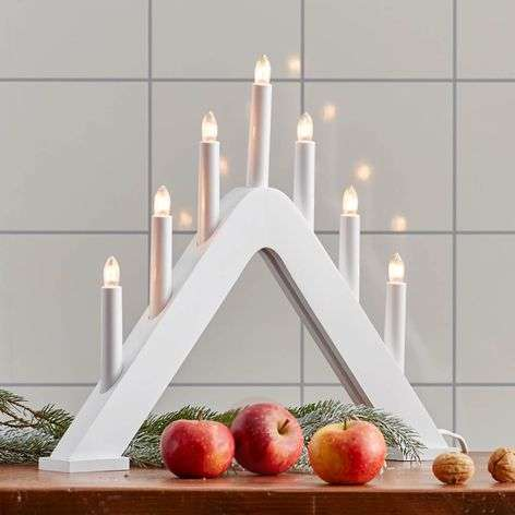 Modern candleholder Jarve white