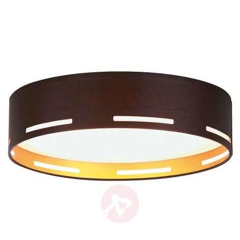 Modern LED fabric ceiling lamp Omnia, gold inside