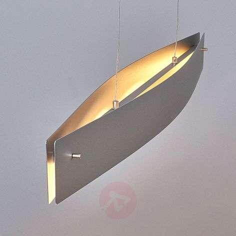 Modern LED pendant lamp Malu, matt aluminium-6722265-31
