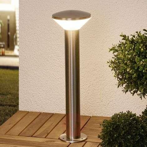 Modern LED pillar lamp Tiga, stainless steel