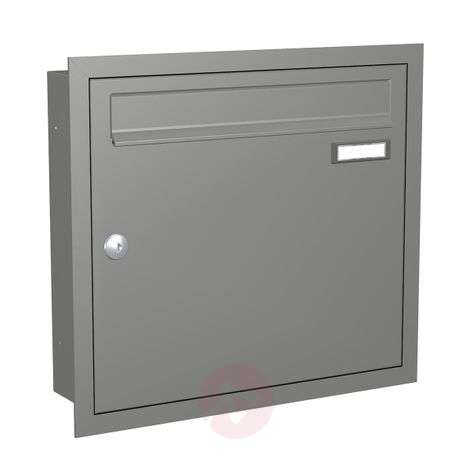 Modern letterbox Express Box Up 110 grey alu.