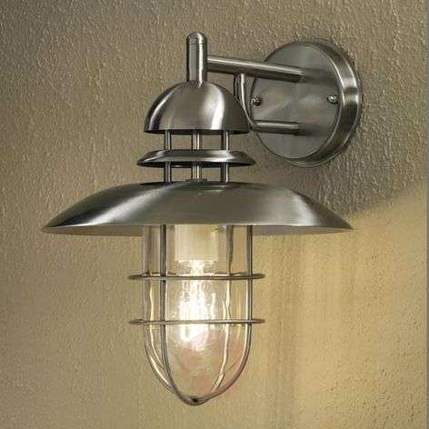 Modern stainless steel outdoor wall light SORRENTO