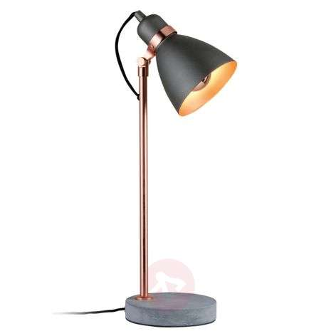 Modern table lamp Orm with concrete base-7601037-31