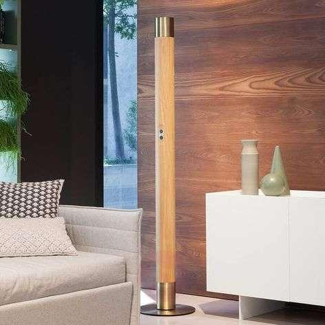 Modern Vendôme LED floor lamp in wood