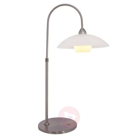 Monarch LED table lamp, glass lampshade and dimmer
