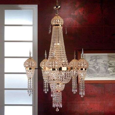 Moskva Chandelier Stately Gold-Plated