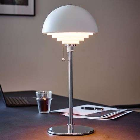 Motown table lamp with louvre