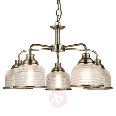 Multi-bulb Bistro II hanging light, antique brass   Lights.ie